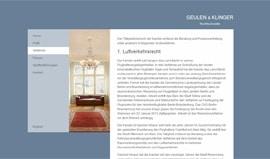 Webdesigner Berlin: Referenz Geulen & Klinger Rechtsanwälte