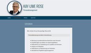 Webdesigner Referenz: Kay-Uwe Rose Personalmanagement