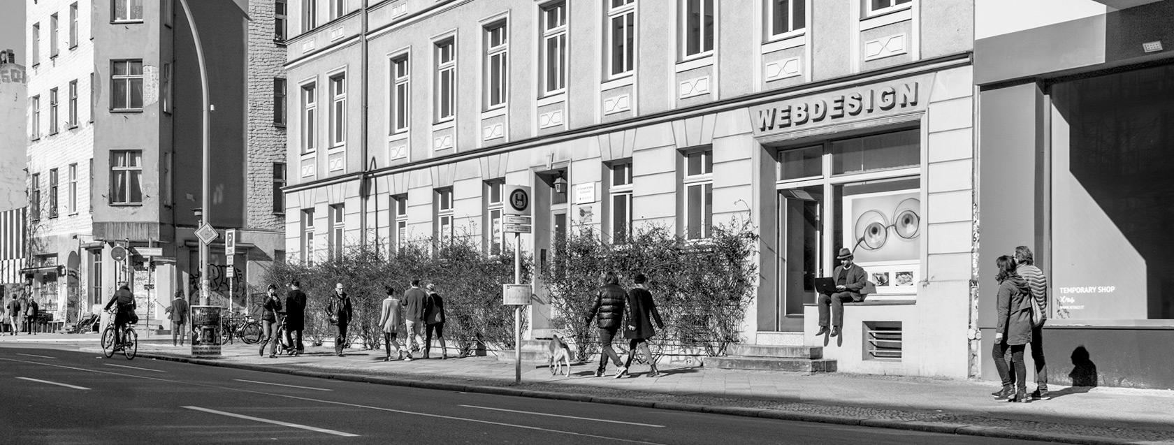 Webdesign Berlin: das Büro von Reister Webdesign in der Torstraße 61, Berlin Mitte