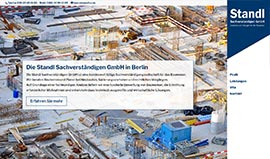 Website der Standl Sachverständigen GmbH