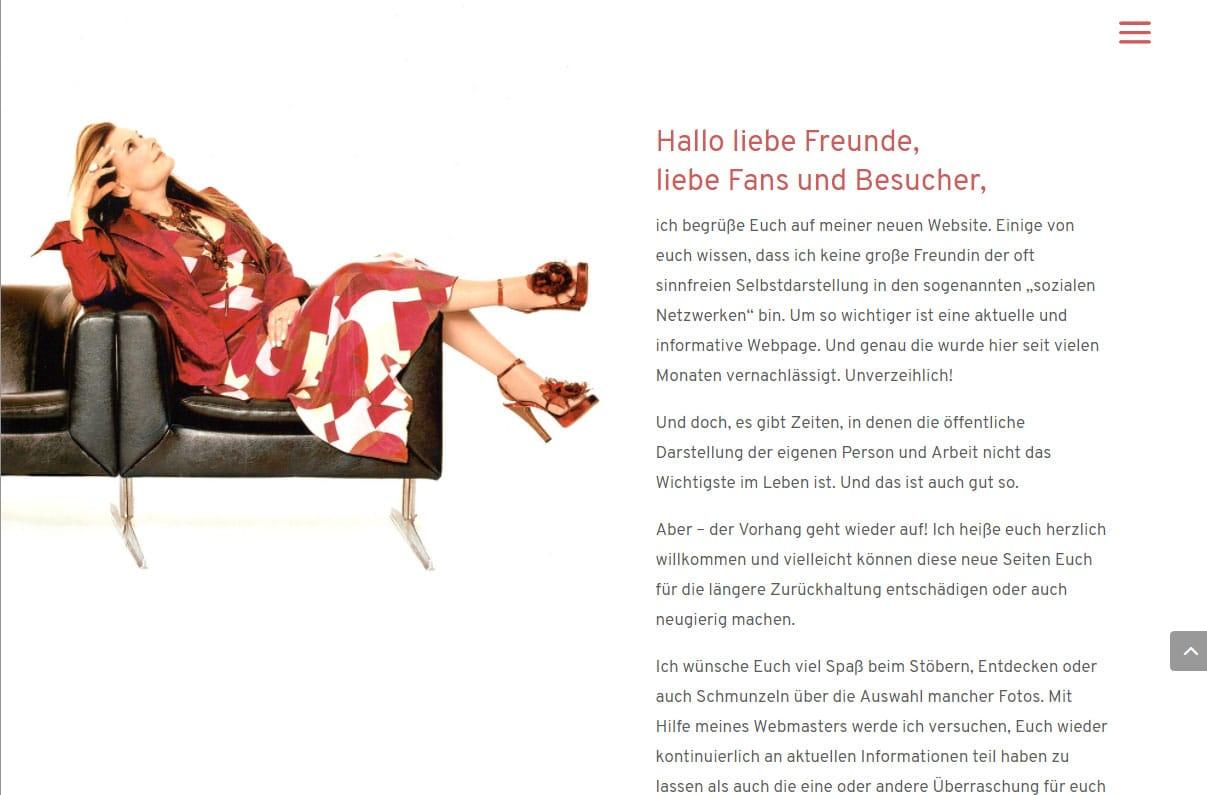 rosenberg.de - Webdesign für Marianne Rosenberg