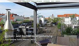 Balkon- und Terrassengestaltung von Dipl.-Gärtner Tobias Peterson, Berlin