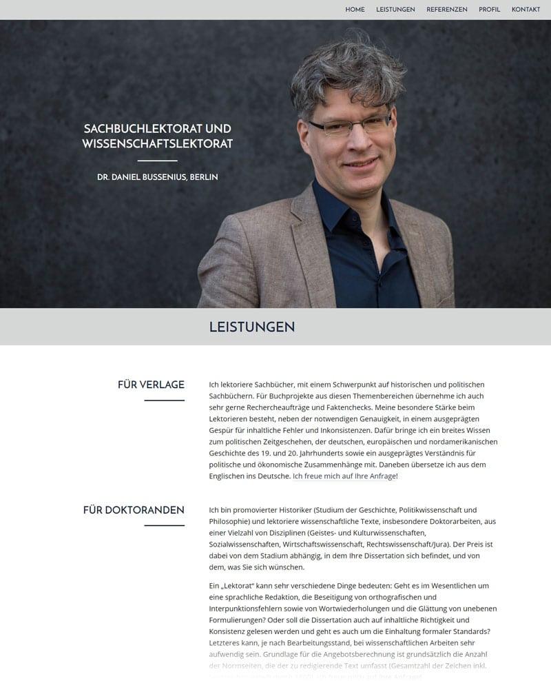Dr. Bussenius - Sachbuchlektorat und Wissenschaftslektorat