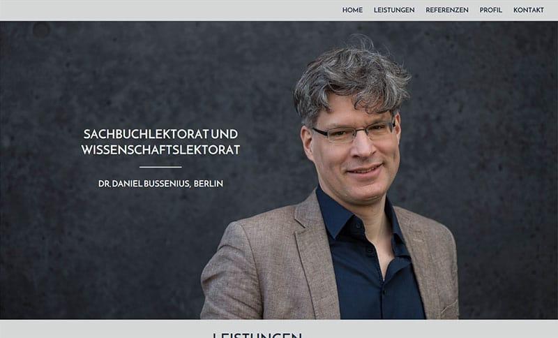 One Page Website für Lektorat