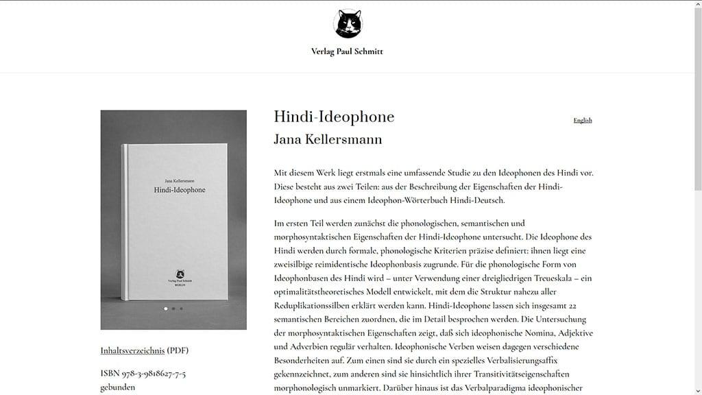 Website für neuen Wissenschaftsverlag