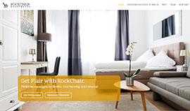 Webdesign für Rockchair Apartments