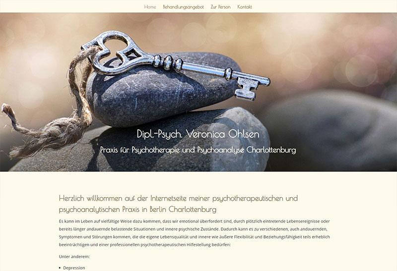 Dipl.-Psych. Veronica Ohlsen Praxis für Psychotherapie und Psychoanalyse Charlottenburg