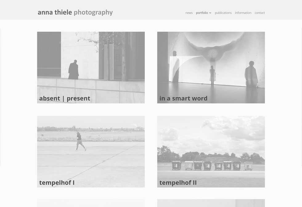 Website für anna thiele - Fine Art Photography