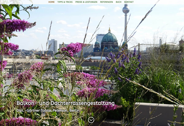 Balkongestaltung.de von Balkon- und Dacchterrassengärtner Tobias Peterson